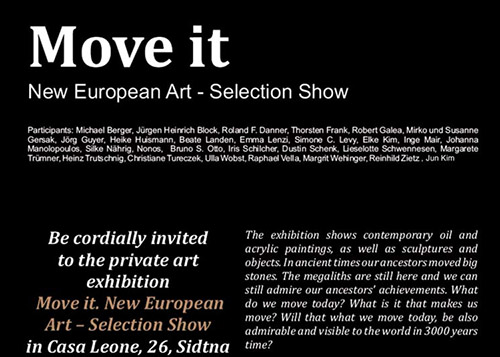 Move it - New European Art - Selection Show in Malta